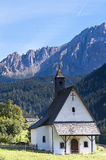 Small church in Dolomites, Italy Royalty Free Stock Photo