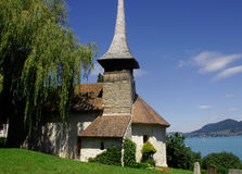 Small church, Einigen, Switzerland Stock Images