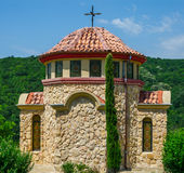 Small church in forest. Small stone church in forest, Elenite, Bulgaria Royalty Free Stock Images