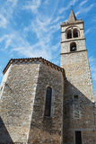 Small church in the French village Vallon Pont d'Arc. Stock Image