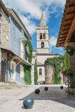 Small church in the French village Vallon Pont d'Arc. Royalty Free Stock Photo