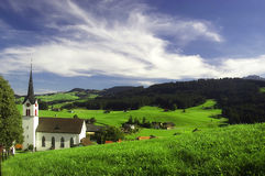 Small church in Gonten in Switzerland Royalty Free Stock Photography
