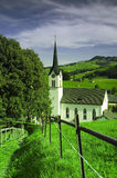 Small church in Gonten in Switzerland Royalty Free Stock Photos
