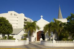 Small church in Grand Cayman, Cayman islands, Caribbean Royalty Free Stock Images