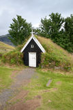 Small church with grass roof Royalty Free Stock Photography