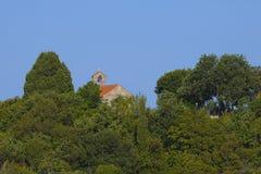 Small church and graveyard Royalty Free Stock Photos