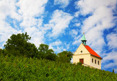 Small church on the hill Stock Image