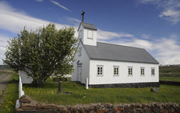Small church in Iceland Stock Image
