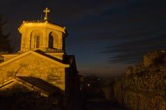 Small church inside Kalemegdan fortress at twilight, Belgrade Stock Photography