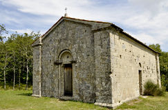 Small church inside wood Royalty Free Stock Image