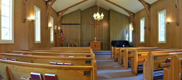 Small church interior Royalty Free Stock Image