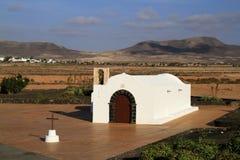 The small church La Ermita in El Cotillo Royalty Free Stock Images