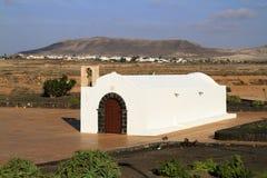 The small church La Ermita in El Cotillo Stock Photography