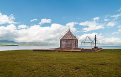 Small church by the lake Royalty Free Stock Photo