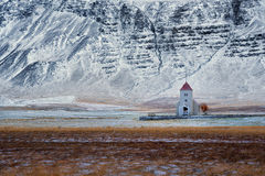 Small church in landscape at Iceland Royalty Free Stock Image