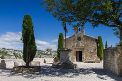 Small church in Les Baux De Provence Stock Photography