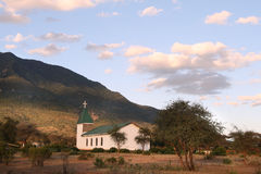 A small church in the Longido town Royalty Free Stock Photo