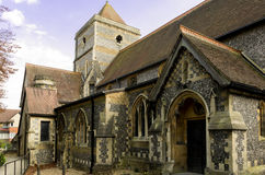 Small church. Small medieval church somewhere on Croydon in London Stock Image