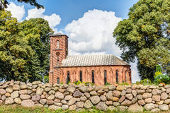 Small church in Mirow. Small church in brick architecture in Mirow, Germany Royalty Free Stock Photo