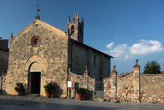 Small Church of Monteriggioni Royalty Free Stock Images