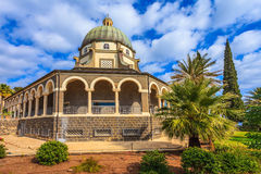 Small church Mount Beatitudes Royalty Free Stock Image