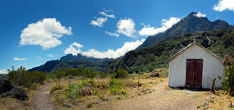 Small church in mountains Royalty Free Stock Photography