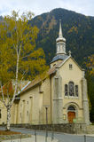 Small church in the mountains. Small church at Chamonix, France Royalty Free Stock Images