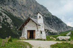 Small church in the mountains Royalty Free Stock Photo