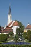 Small Church near Shoenbrunn Palace in Vienna, Austria Royalty Free Stock Image