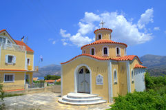 Small church. Nice colorful small church in Argostoli town,Kefalonia island,Greece Stock Images