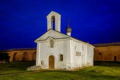 Small church at night Royalty Free Stock Image