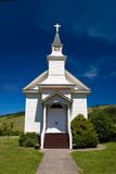 Small church in a Northern Cal. Saint Mary's Church at Nicasio Valley, a tiny Northern California village in an agricultural area Royalty Free Stock Photos