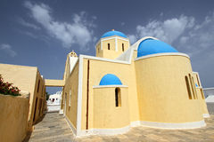Small church at Oia,Santorini Royalty Free Stock Photo