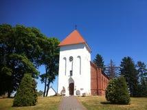 Small church in Poland, Marszewo village Royalty Free Stock Image
