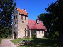 Small church in Poland, Pieszcz village Royalty Free Stock Image