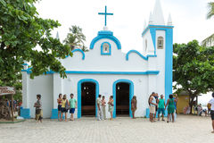 The small church in Praia do Forte in Bahia, Brazil.  royalty free stock photography