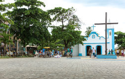 The small church in Praia do Forte in Bahia, Brazil Royalty Free Stock Photography