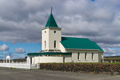 A small church in Reykjahlid Stock Images