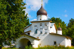 A small Church in Russia in the summer Royalty Free Stock Photos