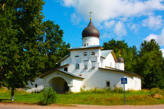 A small Church in Russia in the summer Stock Image