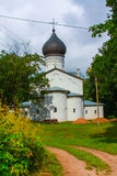A small Church in Russia in the summer Stock Photos
