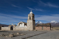 Small church Sajama National Park, Bolivia Royalty Free Stock Photo