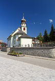 Small church in San Cassiano Royalty Free Stock Image