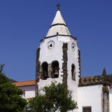 Small church in Santa Cruz. Madeira stock photo