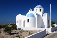 Small church in Santorini, Greece Royalty Free Stock Image