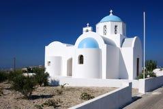 Small church in Santorini, Greece royalty free stock image