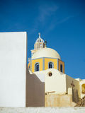 Small church in Santorini island Stock Photos