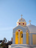 Small church in Santorini island Royalty Free Stock Photo