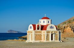 Small church by the sea Royalty Free Stock Images