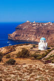 Small church in southern Santorini Stock Image